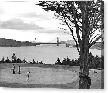 Golf With View Of Golden Gate Canvas Print