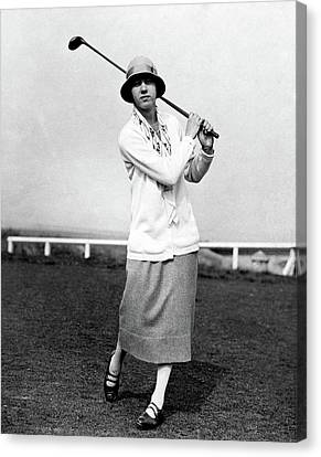 Full Skirt Canvas Print - Golfer Joyce Wethered by Acme
