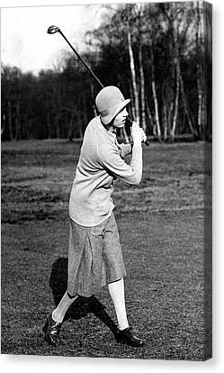 Cloche Hat Canvas Print - Golfer Joyce Wethered by Wide World Photos