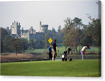 Golfing At Dromoland Castle Canvas Print by Carl Purcell