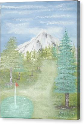 Golfing At Hood Canvas Print