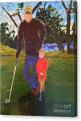 Golfing Canvas Print by Donald J Ryker III
