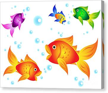 Golfish And Friends Canvas Print