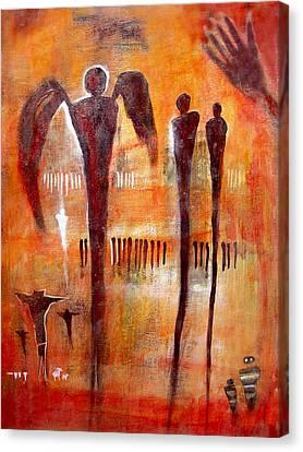 Golgotha Petroglyph Canvas Print by Derrick Higgins