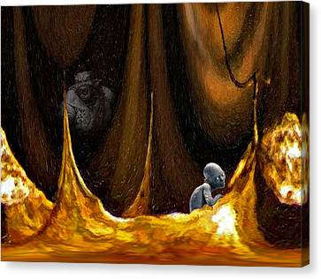 Gollum Shows The Way Canvas Print by Steve Harrington