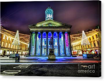 Goma Glasgow Lit Up Canvas Print by John Farnan
