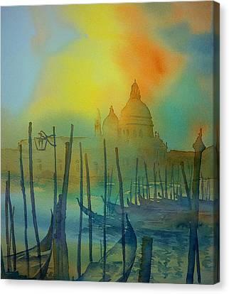 Gondeln 3 Canvas Print by Thomas Habermann