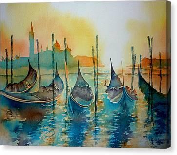 Gondeln 6 Canvas Print by Thomas Habermann