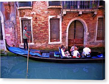 Canvas Print featuring the photograph Gondola 4 by Allen Beatty