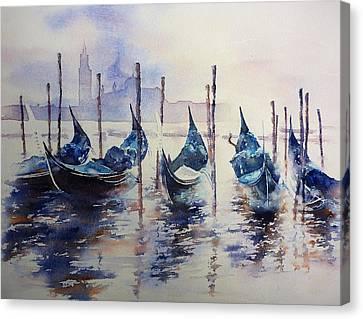 Gondola 9 Canvas Print by Thomas Habermann
