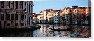 Gondola In A Canal, Grand Canal Canvas Print by Panoramic Images
