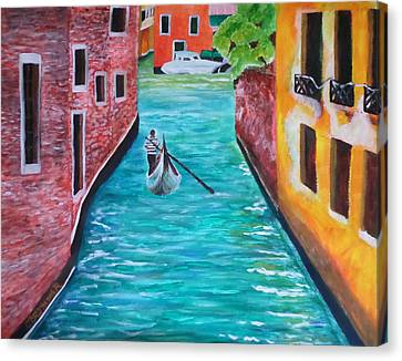 Gondola Time Canvas Print by Christy Saunders Church