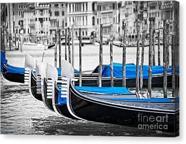 Gondolas Canvas Print by Delphimages Photo Creations