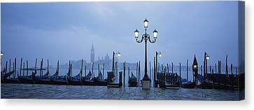 Gondolas In A Canal, Grand Canal, St Canvas Print