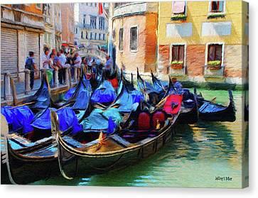 Gondolas Canvas Print by Jeff Kolker