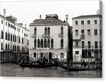 Gondolas On The Grand Canal 2015 Canvas Print by John Rizzuto