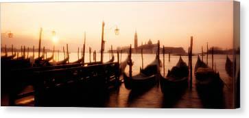 Streetlight Canvas Print - Gondolas San Giorgio Maggiore Venice by Panoramic Images