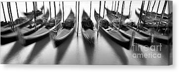 Gondolas - Venice Canvas Print by Rod McLean