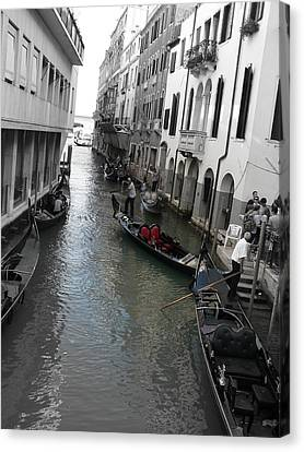 Canvas Print featuring the photograph Gondolier by Laurel Best