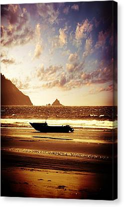Beach Canvas Print featuring the photograph Gone Fishin' by Aaron Berg