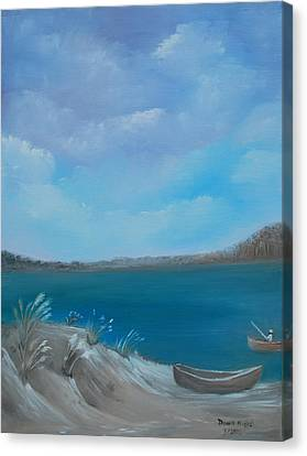 Gone Fishin Canvas Print