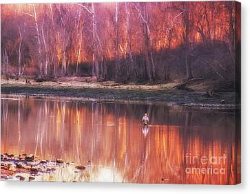 Canvas Print featuring the photograph Gone Fishin' by Julie Clements