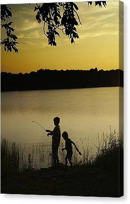 Gone Fishin' Canvas Print by Mary Ely