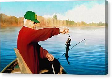 Dale Jackson Canvas Print - Gone Fishing by Dale Jackson