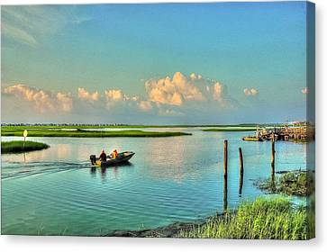 Gone Fishing Canvas Print by Ed Roberts