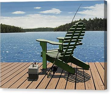 Gone Fishing Canvas Print by Kenneth M  Kirsch