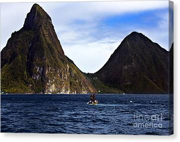 Canvas Print featuring the photograph Gone Fishing by Rafael Quirindongo
