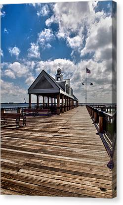 Canvas Print featuring the photograph Gone Fishing by Sennie Pierson