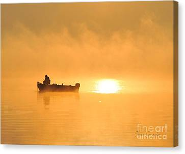 Canvas Print featuring the photograph Gone Fishing by Terri Gostola