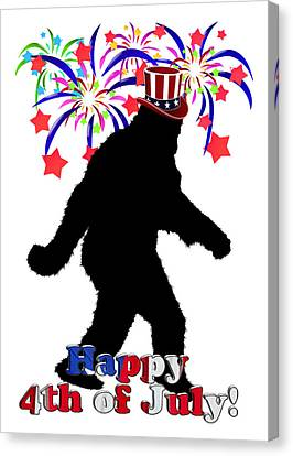 Gone Squatchin - 4th Of July Canvas Print