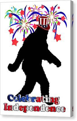Gone Squatchin - Celebrating Independence Canvas Print