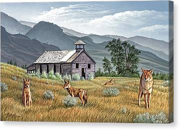 Gone To The Dogs Canvas Print
