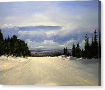 Gonna Snow Again Canvas Print by Ken Ahlering