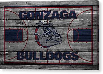 Benches Canvas Print - Gonzaga Bulldogs by Joe Hamilton
