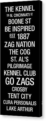 Gonzaga College Town Wall Art Canvas Print by Replay Photos