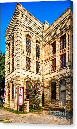 Gonzales County Old Jail Museum - Gonzales Texas Canvas Print by Silvio Ligutti