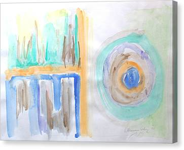 Canvas Print featuring the painting Good Afternoon Abstract by Esther Newman-Cohen