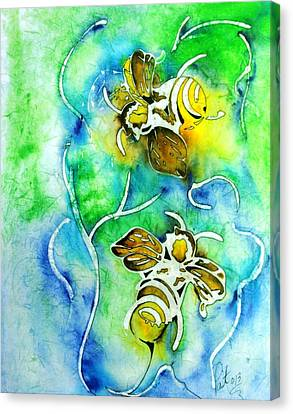 Good Day To Be A Bee Canvas Print by Pat Purdy