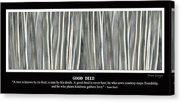 Good Deed Canvas Print by James BO  Insogna