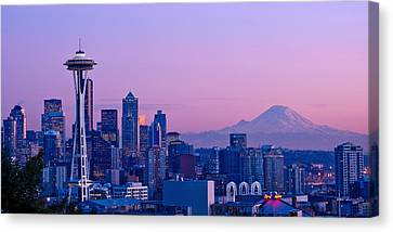 Good Evening Seattle Canvas Print