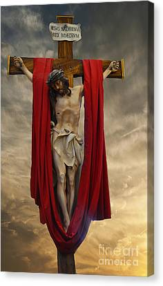 His Ultimate Gift Of Mercy - Jesus Christ Canvas Print by Luther Fine Art