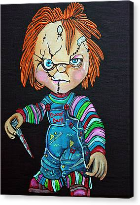 Good Guy Doll Canvas Print by Laura Barbosa