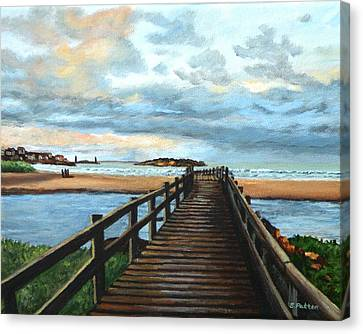 Good Harbor Beach Gloucester Canvas Print by Eileen Patten Oliver