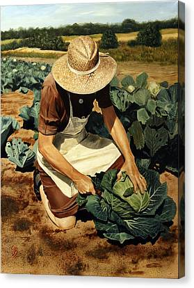 Canvas Print featuring the painting Good Harvest by Glenn Beasley