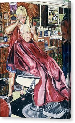 Barberchairs Canvas Print - Good Listener by Jodi Bonassi