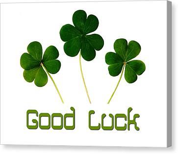 Good Luck Poster Canvas Print